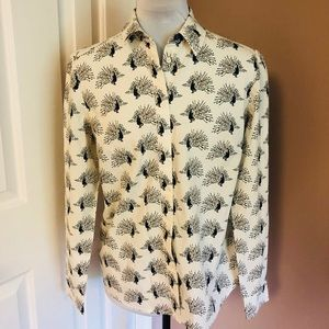 Boden Peacock Buttondown Sz 6